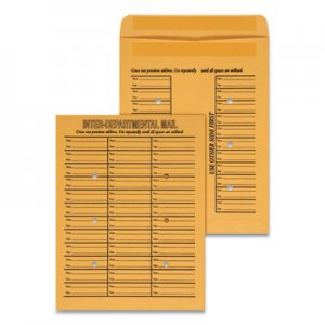 Genpak Interoffice Press & Seal Envelope, 10 x 13, Brown, 100/Box UNV63570