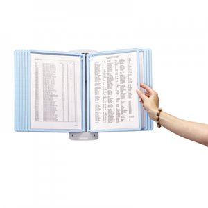 Durable SHERPA Style Wall-Mount Reference System, 20 Sheet Capacity, Blue/Gray DBL594306 594306