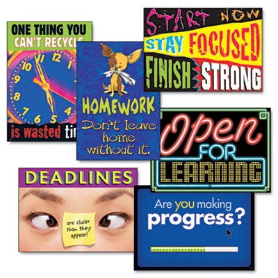 """TREND """"Motivation"""" ARGUS Poster Combo Pack, 6 Posters/Pack TEPTA67922 TA67922"""