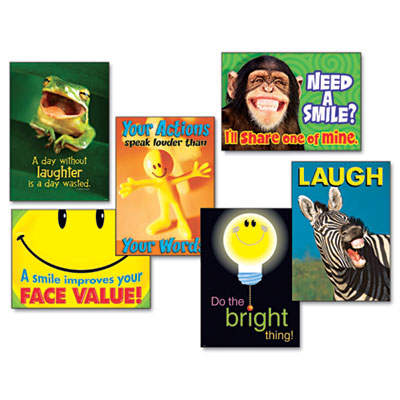 """TREND """"Attitude & Smiles"""" ARGUS Poster Combo Pack, 6 Posters/Pack TEPTA67920 TA67920"""