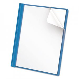 Genpak Clear Front Report Cover, Tang Fasteners, Letter Size, Light Blue, 25/Box UNV57121