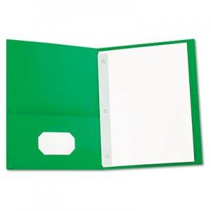 Universal Two-Pocket Portfolios with Tang Fasteners, 11 x 8 1/2, Green, 25/Box UNV57117