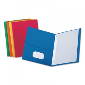 Universal Two-Pocket Portfolios with Tang Fasteners, 11 x 8 1/2, Assorted, 25/Box UNV57113