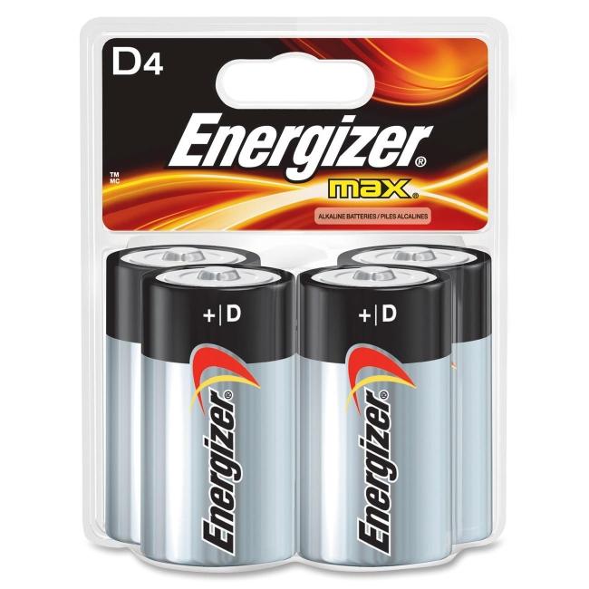Energizer D Cell Alkaline Battery E95BP-4