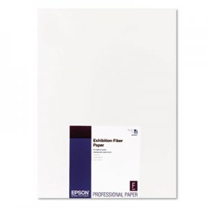 Epson Exhibition Fiber Paper, 13 x 19, White, 25 Sheets EPSS045037 S045037
