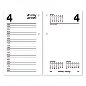 At-A-Glance Desk Calendar Refill, 6 x 3.5, White, 2021 AAGE71750 E717-50