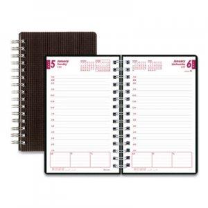 Brownline DuraFlex Daily Planner, 8 x 5, Black, 2020 REDCB634VBLK CB634V.BLK