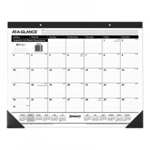 At-A-Glance Ruled Desk Pad, 22 x 17, 2019 AAGSK2400 SK24-00