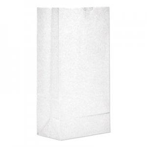"Genpak Grocery Paper Bags, 35 lbs Capacity, #8, 6.13""w x 4.17""d x 12.44""h, White"