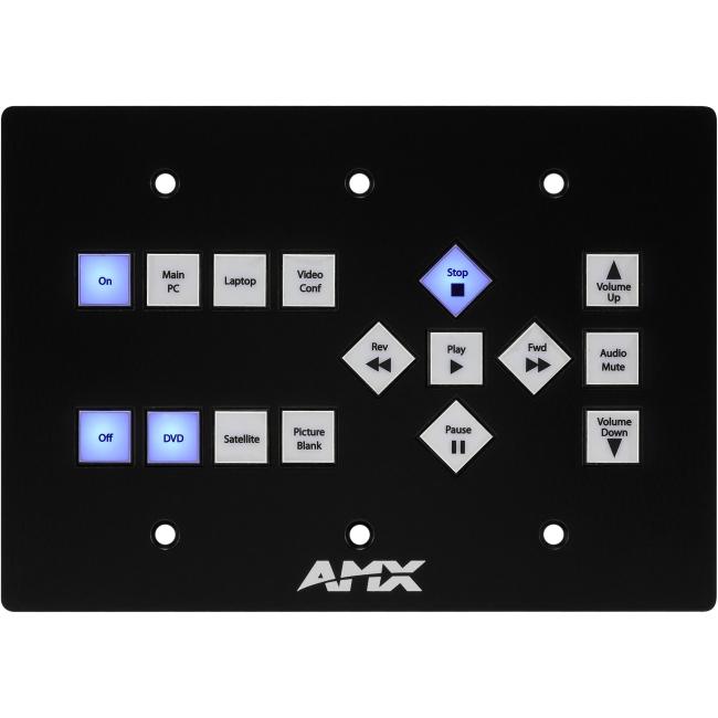 AMX Novara 1000 A/V ControlPad FG1301-16-SB CP-1016-TR-US