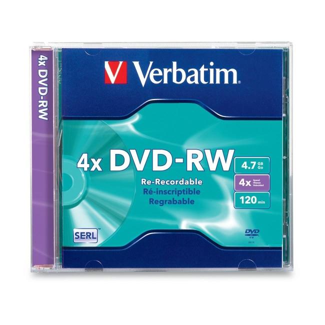 Verbatim DVD-RW 4.7GB 4x 1pk Jewel Case 94836