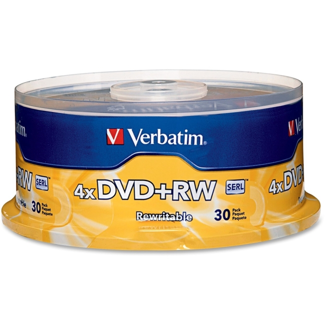 Verbatim DVD+RW 4.7GB 4x 30pk Spindle 94834