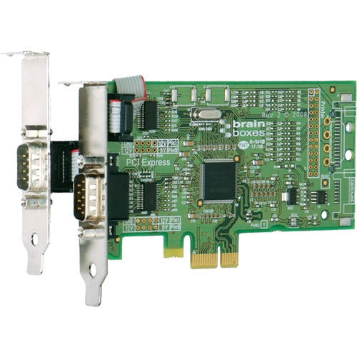 Brainboxes 2-port PCI Express Serial Adapter PX-101