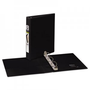 "Avery Mini Size Durable View Binder w/Round Rings, 8 1/2 x 5 1/2, 1"" Cap, Black AVE17167"