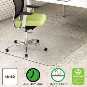 deflecto EnvironMat All Day Use Chair Mat for Hard Floors, 46 x 60, Rectangular, Clear DEFCM2G442FPET CM2G442FPET