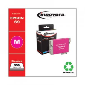 Innovera Remanufactured Magenta Ink, Replacement for Epson 69 (T069320), 350 Page-Yield IVR69320
