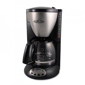 Coffee Pro Home/Office Euro Style Coffee Maker, Black/Stainless Steel OGFCP12BP CP12BP