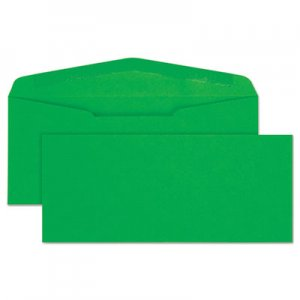 Quality Park Colored Envelope, #10, Bankers Flap, Gummed Closure, 4.13 x 9.5, Green, 25/Pack QUA11135