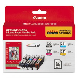 Canon Ink/Paper Combo, Black/Cyan/Magenta/Yellow CNM2945B011 2945B011
