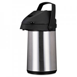 Coffee Pro Direct Brew/Serve Insulated Airpot with Carry Handle, 2200mL, Stainless Steel OGFCPAP22 CPAP22