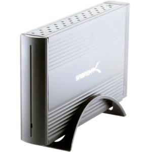 """Sabrent USB 2.0 To 3.5"""" SATA/SATA II Aluminum Hard Drive Enclosure - Black EC-STUK"""