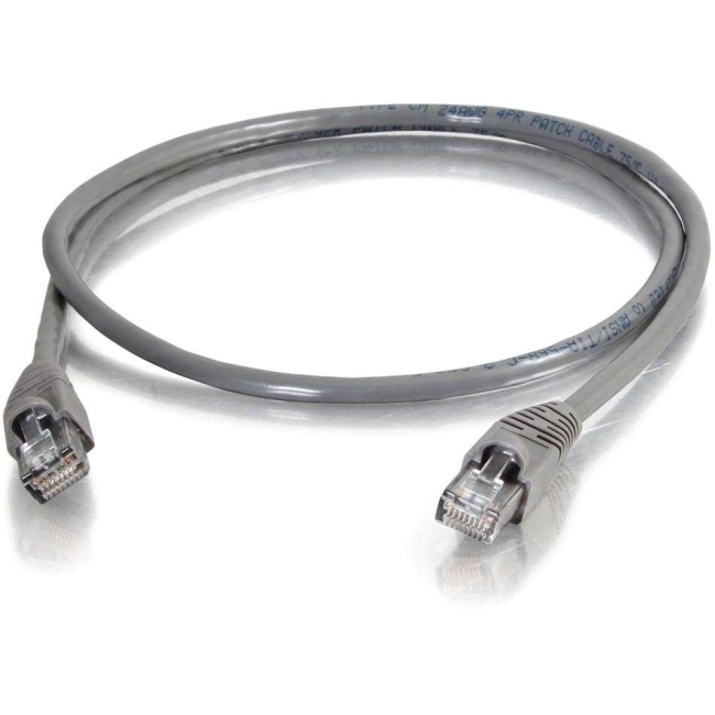 C2G 75 ft Cat5e Snagless UTP Unshielded Network Patch Cable (TAA) - Gray 10277