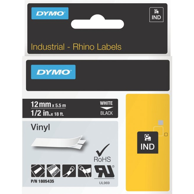 Dymo White on Black Color Coded Label 1805435