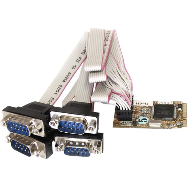 StarTech.com 4 Port RS232 Mini PCI Express Serial Card w/ 16650 MPEX4S552