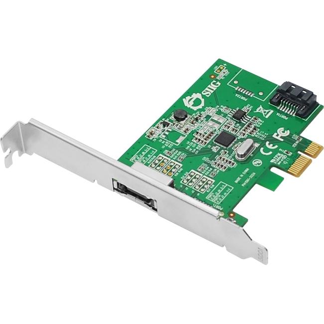 SIIG DP eSATA 6Gb/s 2-Port PCIe i/e SC-SA0N11-S1