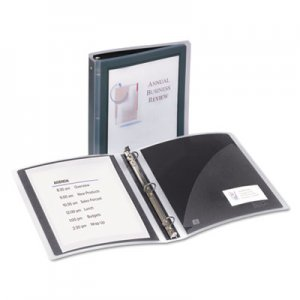 "Avery Flexi-View Binder with Round Rings, 3 Rings, 1.5"" Capacity, 11 x 8.5, Black AVE17637 17637"