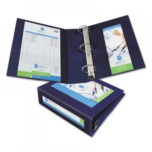 "Avery Framed View Heavy-Duty Binders, 3 Rings, 3"" Capacity, 11 x 8.5, Navy Blue AVE68038 68038"