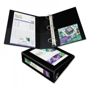 "Avery Framed View Heavy-Duty Binder w/Locking 1-Touch EZD Rings, 3"" Cap, Black AVE68037 68037"