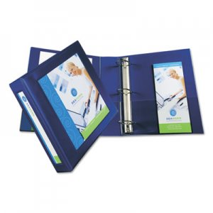 "Avery Framed View Heavy-Duty Binder w/Locking 1-Touch EZD Rings, 2"" Cap, Navy Blue AVE68033 68033"