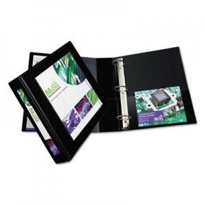 "Avery Framed View Heavy-Duty Binders, 3 Rings, 2"" Capacity, 11 x 8.5, Black AVE68032 68032"