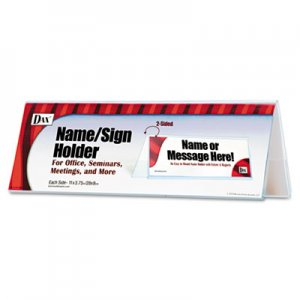 DAX 2-Sided Name/Sign Holder, Blank, 11 x 3 1/2 x 4, Clear DAXN2709N4T N2709N4T