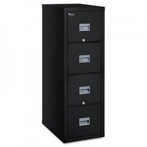 FireKing Patriot Insulated Four-Drawer Fire File, 17-3/4w x 25d x 52-3/4h, Black FIR4P1825CBL 4P1825-CBL