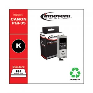 Innovera Remanufactured 1509B002 (PGI-35) Ink, 191 Page-Yield, Black IVRPGI35