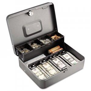 SteelMaster Tiered Cash Box w/Bill Weights, Cam Key Lock, Charcoal MMF2216194G2 2216194G2