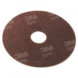 "Scotch-Brite Surface Preparation Pad, 17"" Diameter, Maroon, 10/Carton MMMSPP17 SPP17"