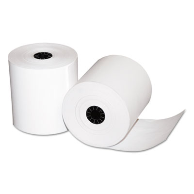 "Quality Park Single-Ply Thermal Cash Register Rolls, 3-1/8"" x 273 feet, White, 50/Carton QUA15618"