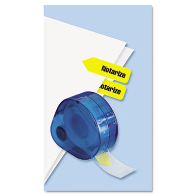"""Redi-Tag Arrow Page Flags in Dispenser, """"Notarize"""", Yellow, 120 Flags/Dispenser 60435 RTG60435"""