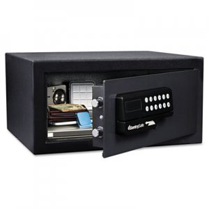 Sentry Safe Electronic Lock/Card Swipe Security Safe, 1.1 ft3, 18w x 16d x 9h, Black SENHL100ES HL100ES
