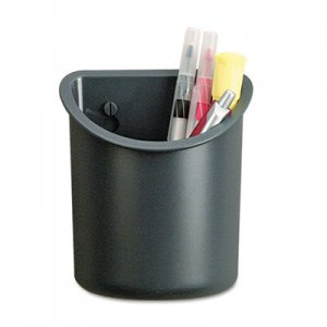 Universal Recycled Plastic Cubicle Pencil Cup, 4 1/4 x 2 1/2 x 5, Charcoal UNV08193