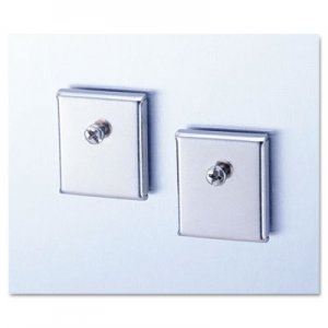 Universal Cubicle Accessory Mounting Magnets, Silver, Set of 2 UNV08172