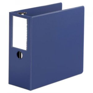 "Genpak Deluxe Non-View D-Ring Binder with Label Holder, 3 Rings, 5"" Capacity, 11 x 8.5, Royal Blue"