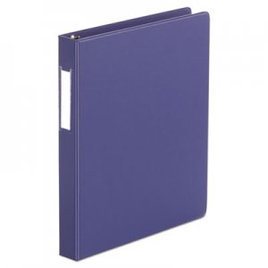 "Genpak Deluxe Non-View D-Ring Binder with Label Holder, 3 Rings, 1"" Capacity, 11 x 8.5, Navy Blue"