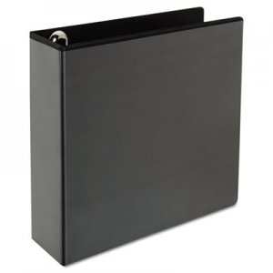 "Genpak Comfort Grip Round Ring View Binder, 3"" Capacity, 8-1/2 x 11, Black UNV30773"