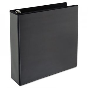 "Genpak Comfort Grip Round Ring View Binder, 2"" Capacity, 9-1/2 x 11, Black UNV30771"