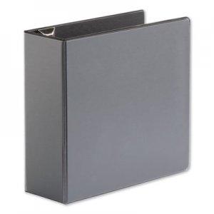 "Universal Comfort Grip Deluxe Plus D-Ring View Binder, 4"" Capacity, 8-1/2 x 11, Black UNV30753"