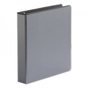 "Genpak Comfort Grip Deluxe Plus D-Ring View Binder, 1-1/2"" Capacity, 8-1/2 x 11, Black UNV30721"